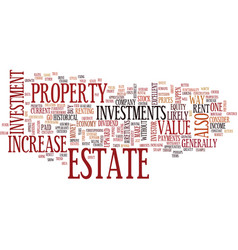 Estate investments text background word cloud vector