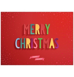 Merry Christmas candy lettering on red background vector image