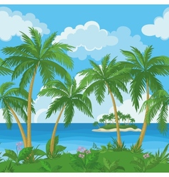 Exotic seamless tropical sea landscape vector