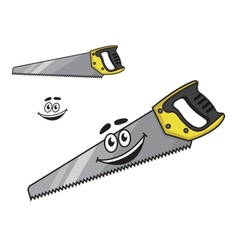 Cartoon handsaw with a happy smile vector