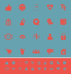 Chat conversation color icons on blue background vector