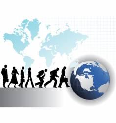 businesspeople globe vector image