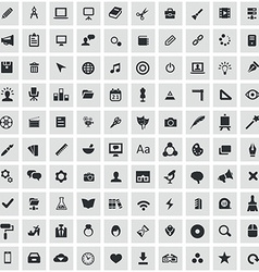 100 art design icons vector