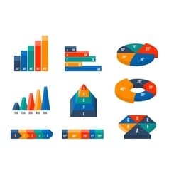 Charts diagrams and graphs in modern isometric 3d vector image