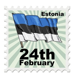 National day of estonia vector