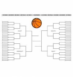 college basketball tournament bracket vector image