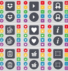 Dropbox media play medal mp3 player heart vector