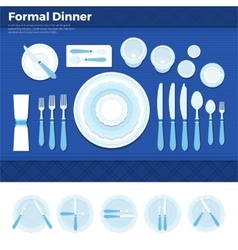 Table served for formal dinner vector