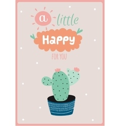 Card with house plants in pot vector