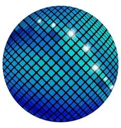Blue mosaic ball vector