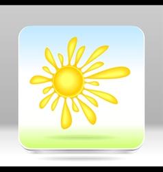 Button Sun vector image