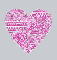 Carved heart vector