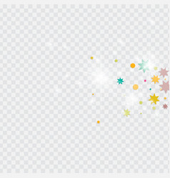 Confetti on transparent background vector