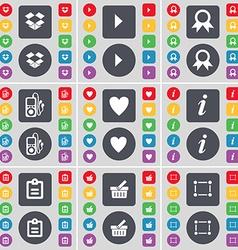 Dropbox media play medal mp3 player heart vector