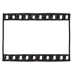 Film strip background empty film frame sketch vector