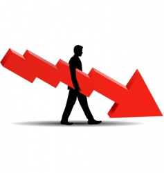 financial failure vector image