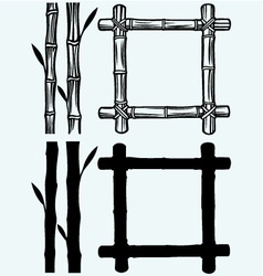 Frame of bamboo vector image