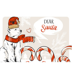 Hand drawn graphic merry christmas save the vector