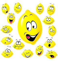 lemon cartoon vector image
