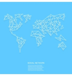 modern social network background vector image vector image