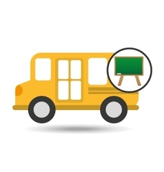 school bus icon blackboard graphic vector image vector image