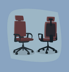 Set of isolated office chairs in different angles vector