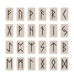 set of signs runes on a background vector image