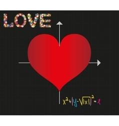 Sketch formula of love vector image
