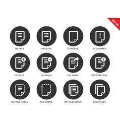 Text files icons on white background vector image vector image