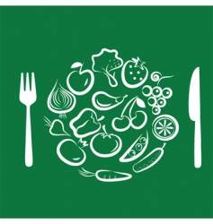vegetables for dinner vector image
