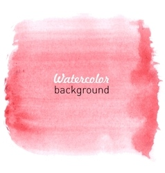 Watercolor hand drawn background vector image