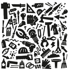 work tools - doodles vector image