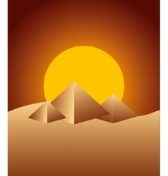 Pyramids desert landscape icon vector