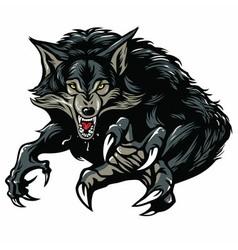 Werewolf character design vector