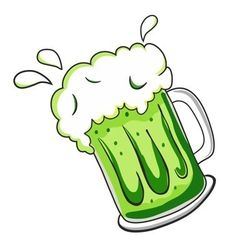 beer stein vector image
