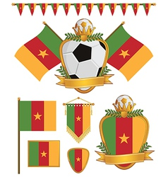 cameroon flags vector image
