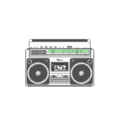 Retro ghetto blaster detailed elements old retro vector