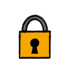 Padlock service security symbol icon vector