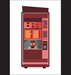 coffee vending machine icon vector image