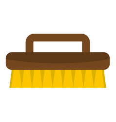 Wooden scrub brush icon isolated vector
