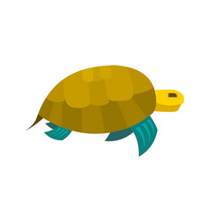 cute turtle toy turtle icon vector image