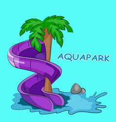 Screw water hill in an aquapark vector