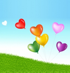 heart shape balloons vector image
