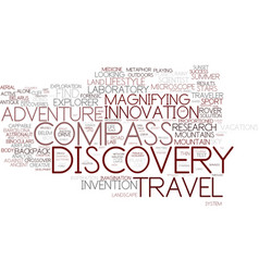Discovery word cloud concept vector