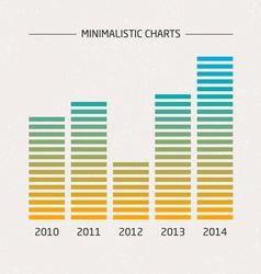 Minimalistic Charts vector image