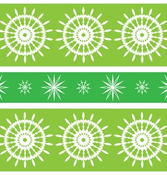 Seamless green design with spirals vector image
