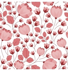 Retro pastel pink floral seamless pattern vector