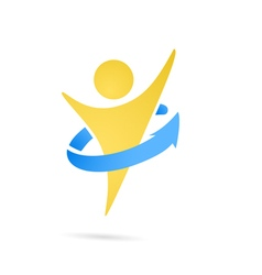 Human perfecting body logo vector
