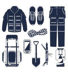 Hiking set vector