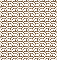 Delicate seamless pattern with half circles vector image